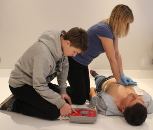 AED Defibrillator and CPR Training