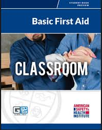 ASHI Basic First Aid Certification Classes - Book Cover